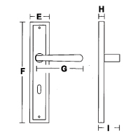 Skisse dørvridere langskilt
