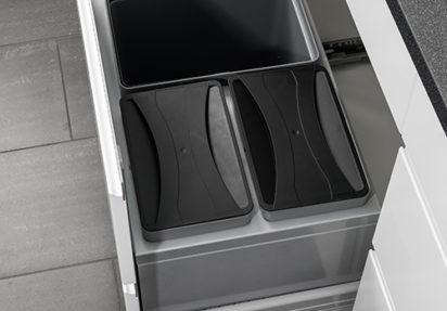Avfallssorterer til skuff under oppvaskbenken