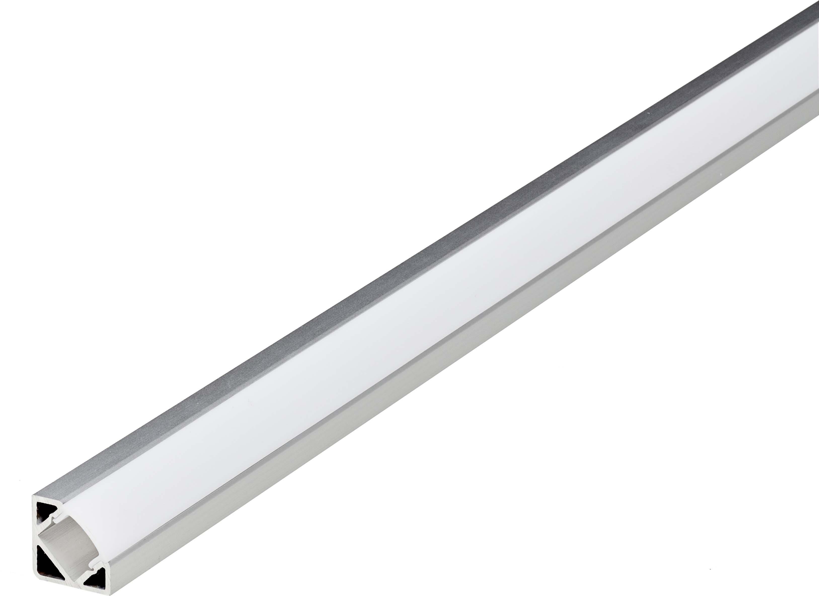 LED corner kanal for ribbon i aluminium farge