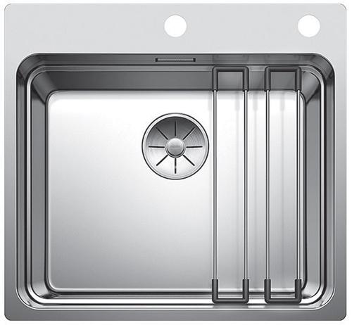 BLANCO ETAGON 500 IF/A - kjøkkenvask med 3 nivåer - bunn, rist og topp.