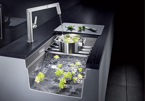 BLANCO ETAGON 500-U - multifunksjonell vask - jobb i 3 nivåer.