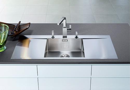 BLANCO FLOW 5S-IF kjøkkenvask i rustfritt stål i SteelArt serien.