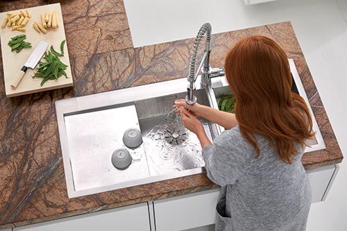 BLANCO CLARON 8S-IF kjøkkenvask i rustfritt stål.