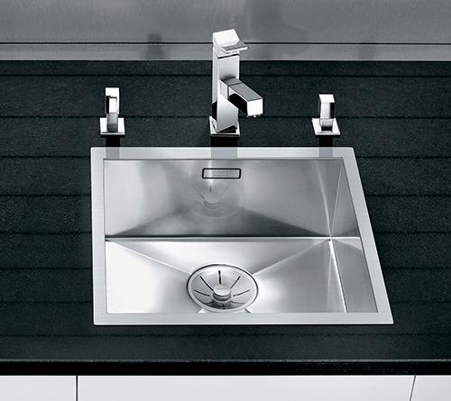 BLANCO ZEROX 400-IF kjøkkenvask i rustfritt stål med InFino silkurv.