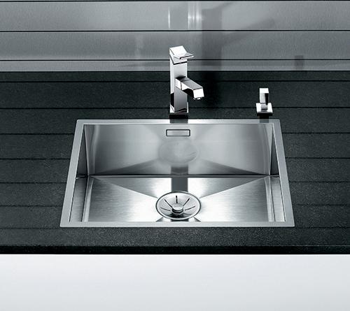 BLANCO ZEROX 500-IF kjøkkenvask i rustfritt stål med InFino silkurv.