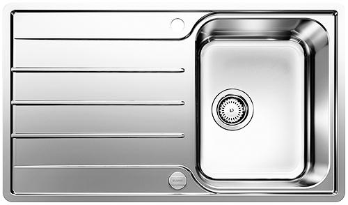BLANCO LEMIS 45S-IF kjøkkenvask med kum og rillefelt.