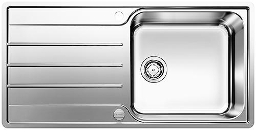 BLANCO LEMIS XL 6S-IF kjøkkenvask med stor kum og rillefelt.