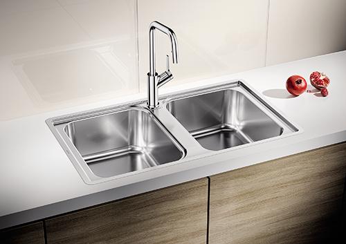 BLANCO LEMIS 8-IF kjøkkenvask med dobbeltkum.