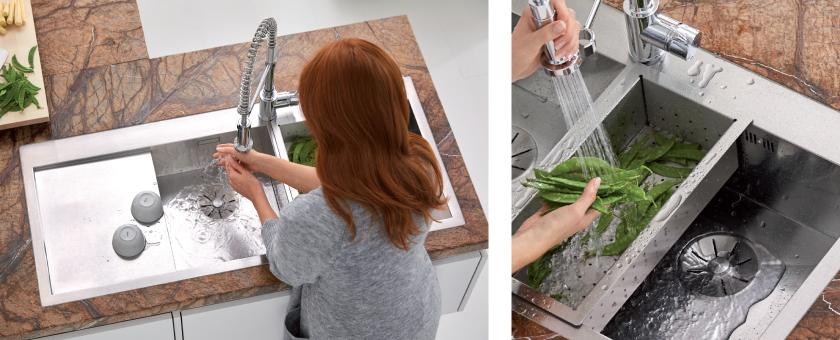 BLANCO ZEROX 8S-IF kjøkkenvask i SteelArt serien.