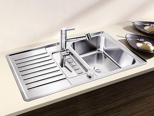 BLANCO CLASSIC PRO 5S-IF, kjøkkenvask i rustfritt stål med skylleskål for liten kum.