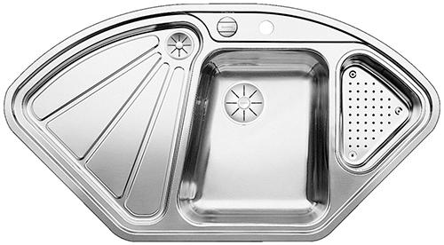 BLANCO DELTA IF hjørnevask i rustfritt stål.