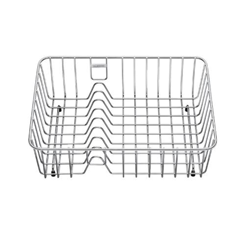 Praktisk trådkurv til kummen for plassering av oppvask.