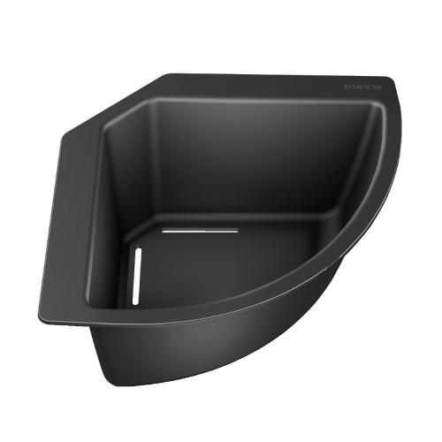 Praktisk kurv for plassering i hjørne på vasken.