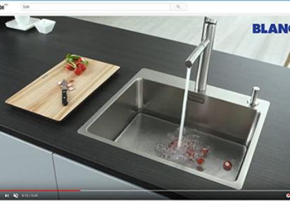 Se video av Blanco kjøkkenvasker i bruk