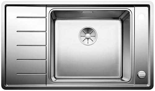 BLANCO ANDANO XL 6S-IF Compact kjøkkenvask i rustfritt stål, stor kum høyre side.