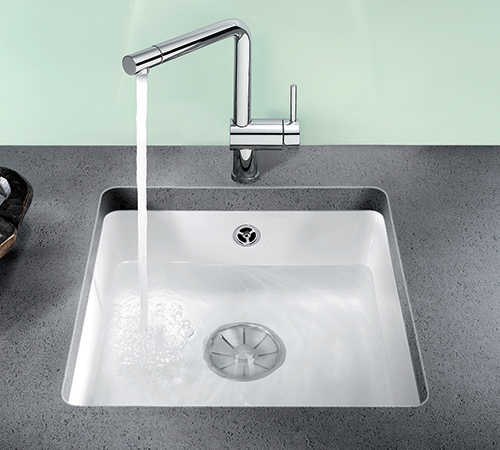 BLANCO SUBLINE 375-U i keramisk porselen farge krystallhvit.