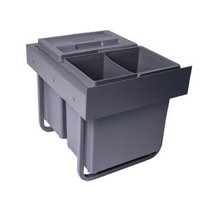 IMA BASE 40/2 avfallssorterer med 2 x 13 liters bøtte.