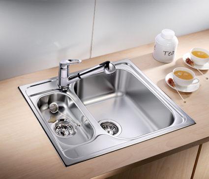 BLANCO TIPO 6 BASIC kjøkkenvask i rustfritt stål. Stor vask til små kjøkkenløsninger.