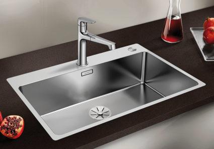 BLANCO ANDANO 700 IF/A kjøkkenvask i rustfritt stål for 80 cm benkeskap.