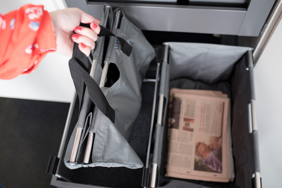 Avfallssystem for papir