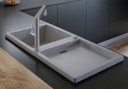 Kjøkkenvasker med betong-look