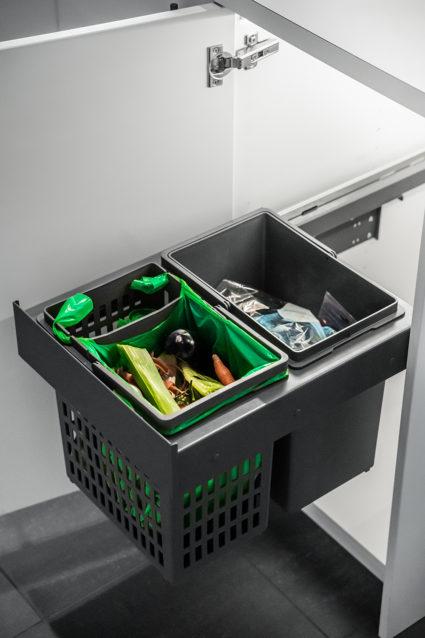 IMA SIDE 40/2 avfallssorterer med Hero bøtte.