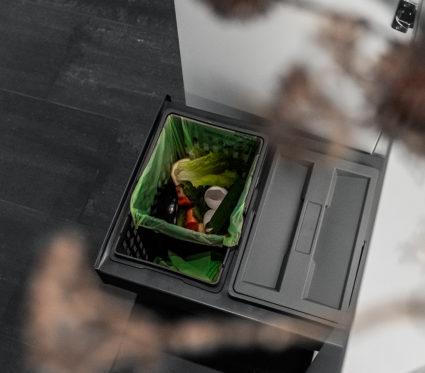 IMA BASE 40/2 avfallssorterer med Hero bøtte.